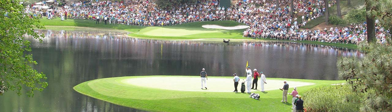Crowd at Augusta National Golf Course