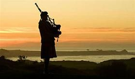 The Lone Piper at Spanish Bay