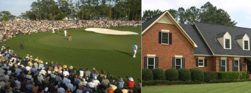 Augusta National Gold Club and an example of one of the local private homes